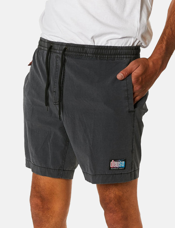 Deus Ex Machina Sandbar Shorts (Solid Dye) - Phantom Black