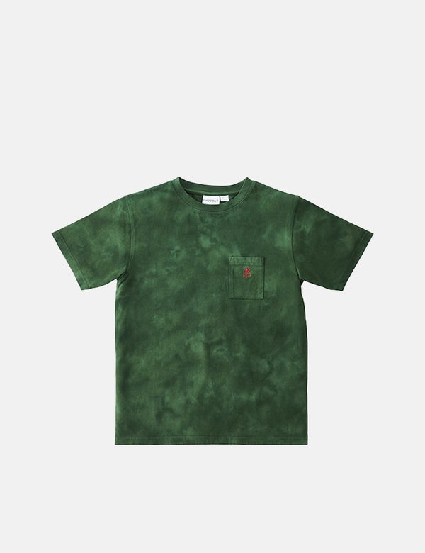 T-Shirt Gramicci One Point Pocket (Tie Dye) - Vert Olive