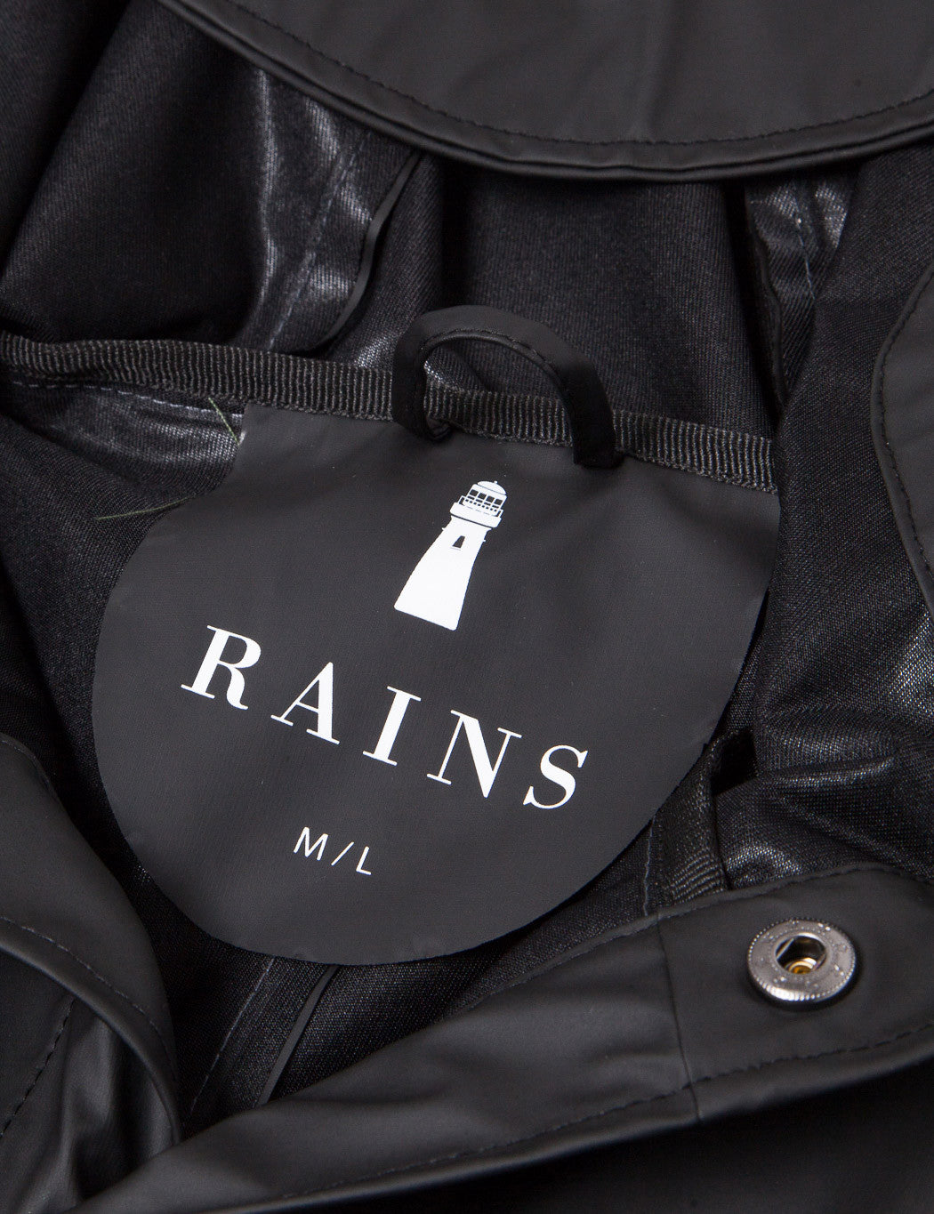 Rains Waterproof Jacket - Black