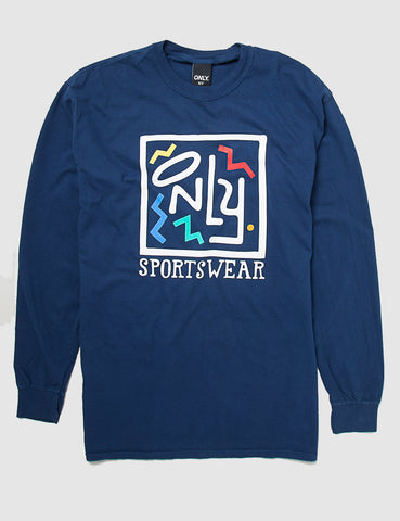 Only NY Party Long Sleeve T-shirt - Navy