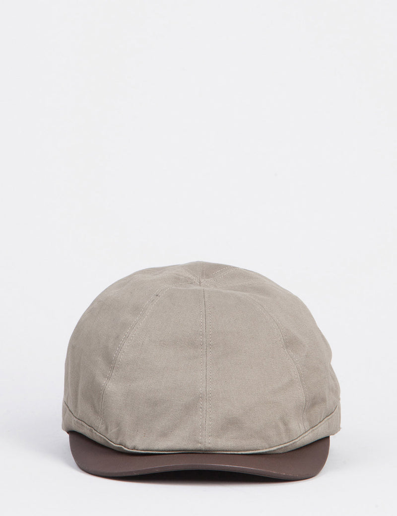Bailey Rodis Leather Peak Flat Cap - Light Brown