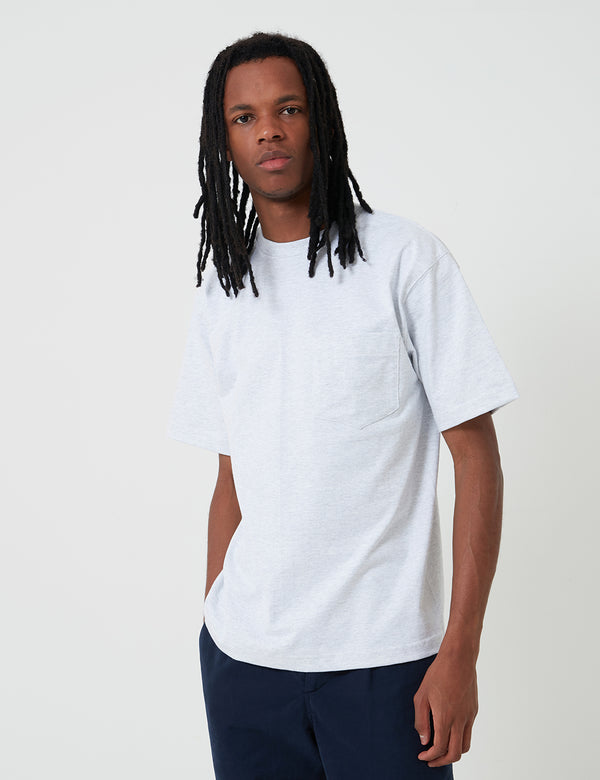 T-Shirt Camber Pocket (8oz) - Grey Heather
