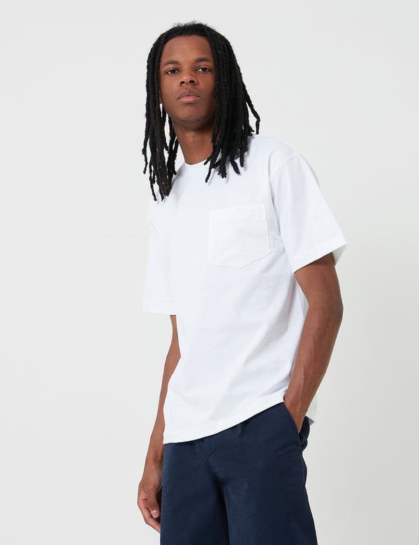 T-Shirt Camber Pocket (8oz) - Blanc