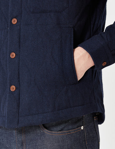 Gant Rugger Wool Shirt Jacket - Navy