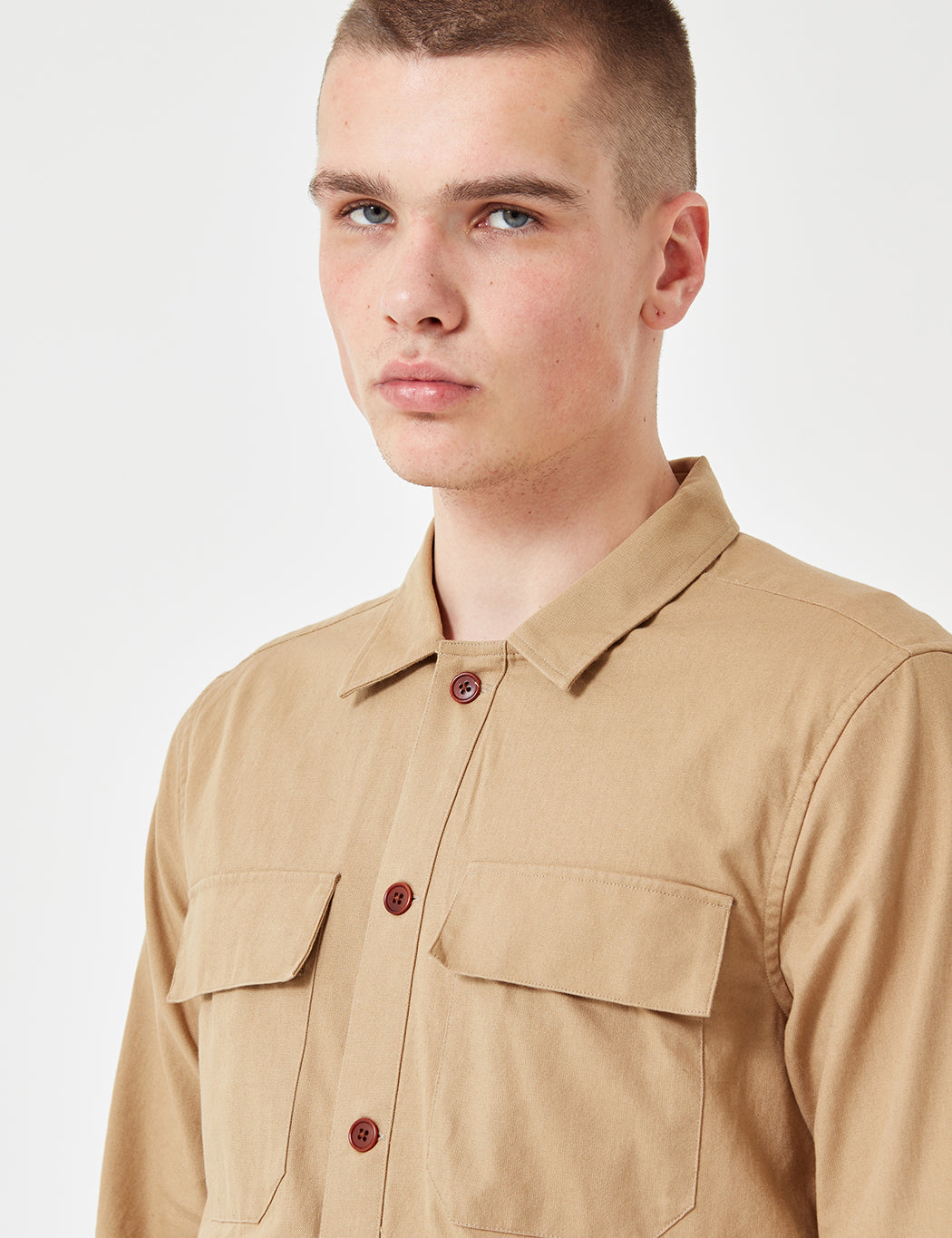 Gant Rugger Chino Overshirt - Burnt Grass Beige