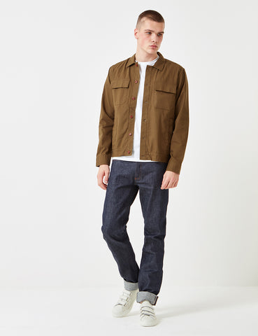 Gant Rugger Chino Overshirt - Dark Cactus Green