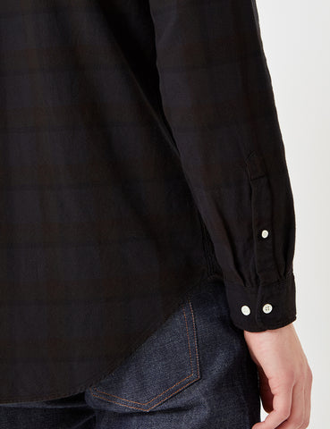 Gant Rugger Overdyed Oxford Check Shirt - Black