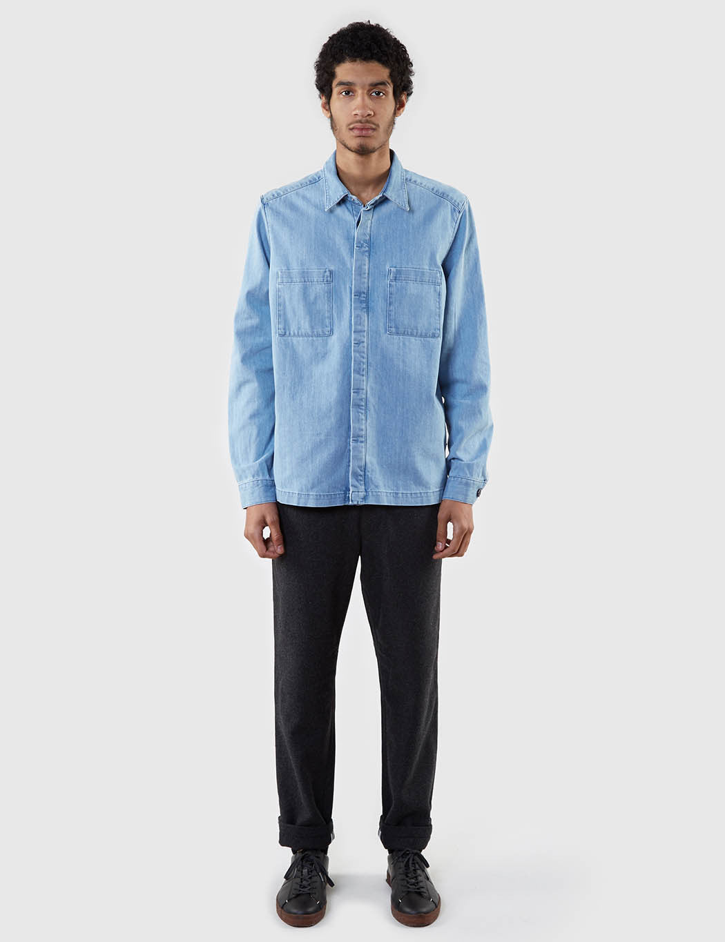Gant Rugger Denim Shirt - Indigo Blue