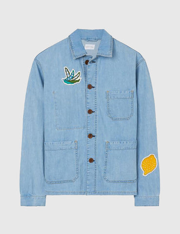 Gant Rugger Embroidered Denim Shirt - Light Blue
