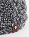 Stetson Hatteras Newsboy Cap - Black/Grey Donegal
