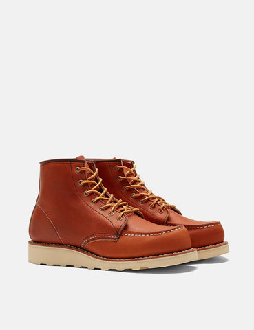 "Women's Red Wing Work 6"" Moc Toe Boots (3375) - Tan Oro Legacy"