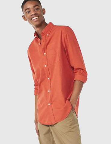 Gant Rugger Selvedge Madras Shirt - Sunset Orange
