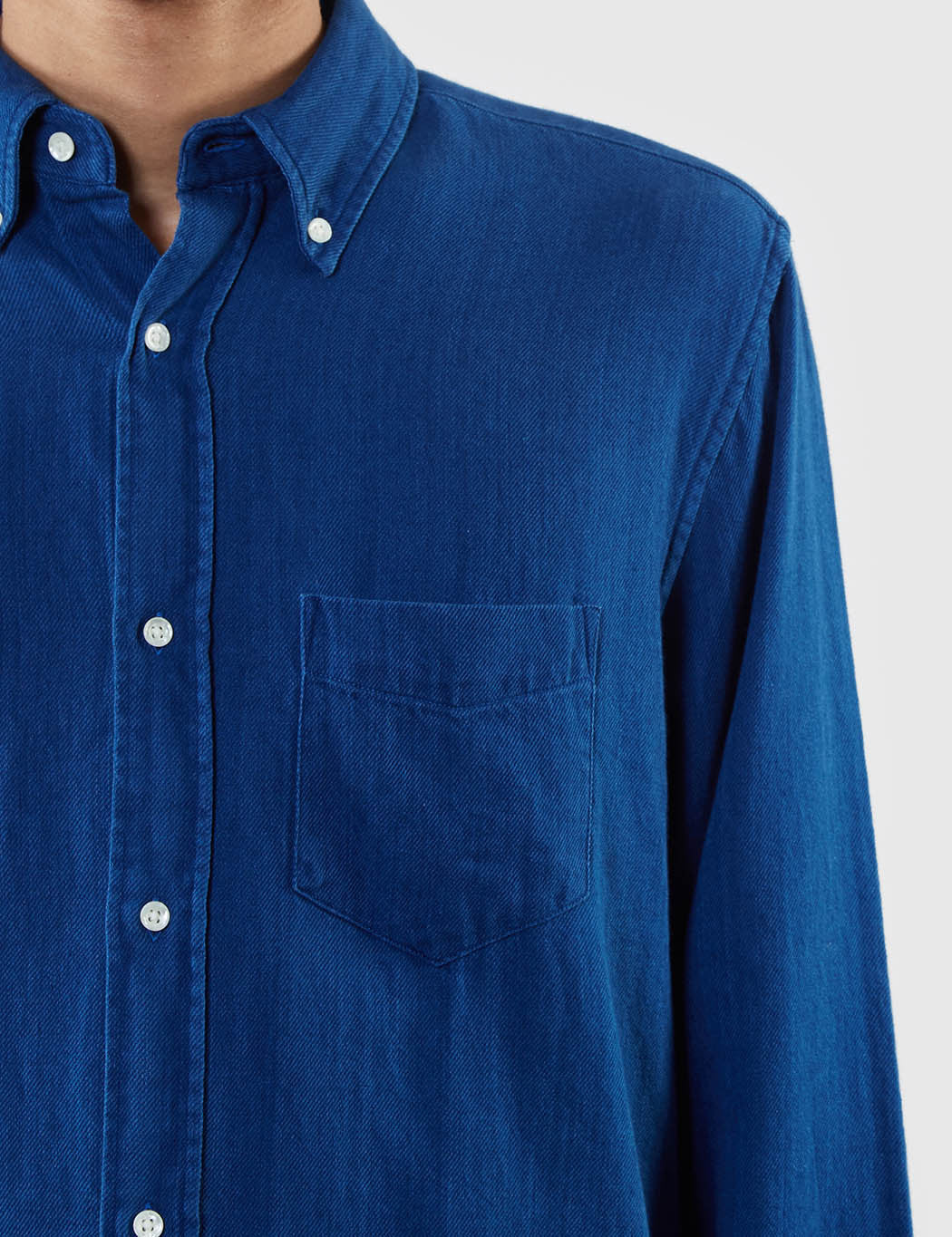 Gant Rugger Indigo Twill Loose Shirt - Indigo Blue