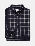 Gant Rugger Brooklyn Twill Checked Shirt - Marine Blue