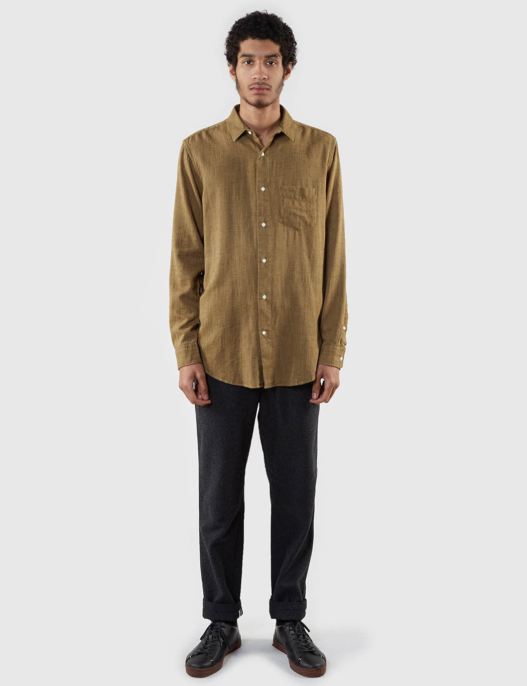 Gant Rugger Slubber Shirt - Cypress Green