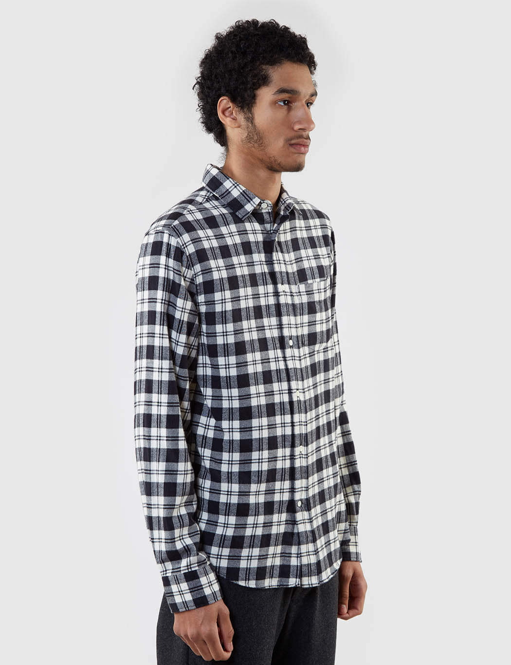 Gant Rugger Brooklyn Twill Checked Shirt - Black