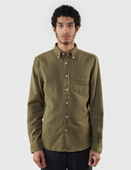 Gant Rugger Dobby Checked Shirt - Duffle Green