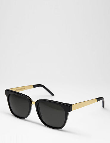 Super People Francis Sunglasses - Black/Gold