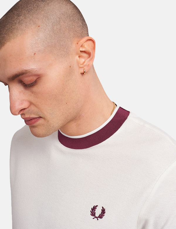 Fred Perry Crepe Jersey T-Shirt - Snow White