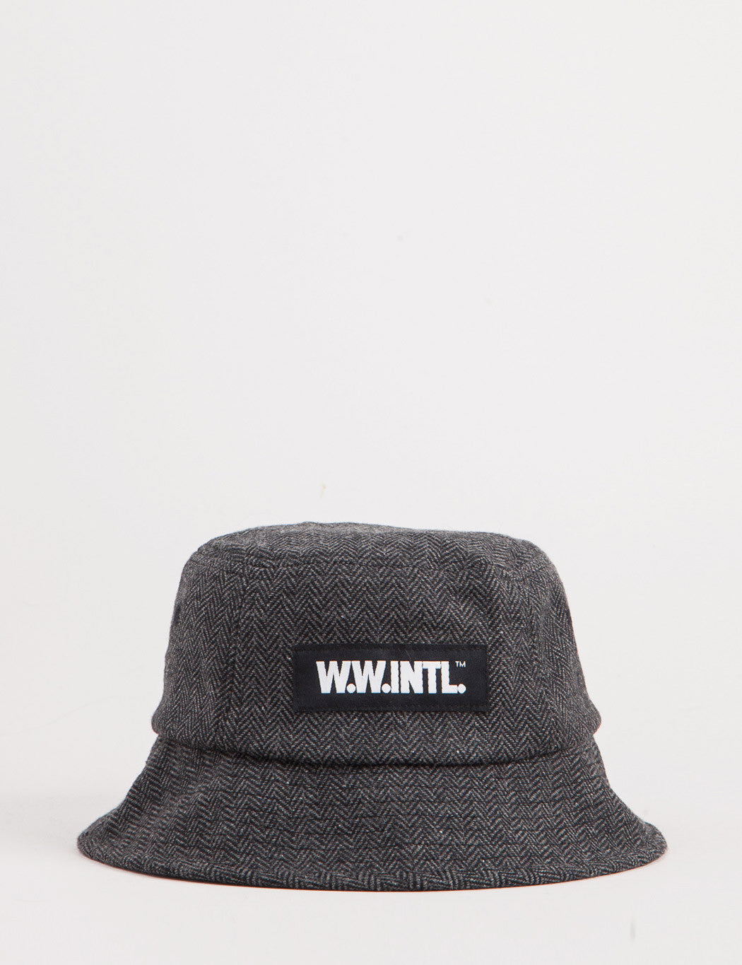 Wood Wood INTL Tweed Bucket Hat - Dark Grey