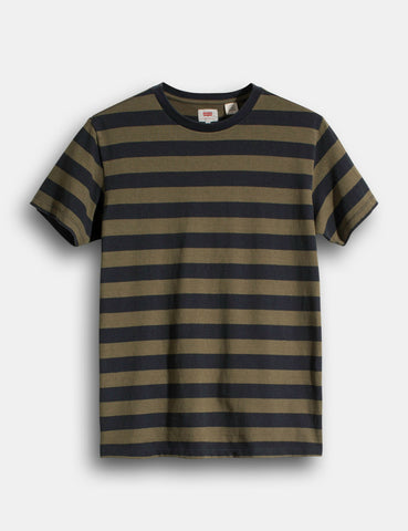 Levis Mighty Stripe T-shirt - Olive Night