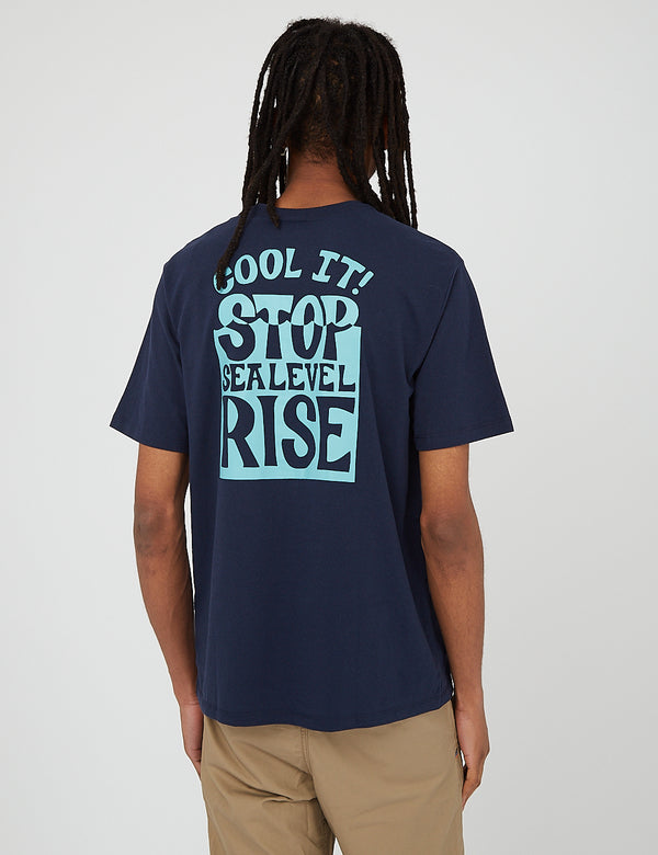 Patagonia Stop The Rise Responsibili-Tee T-Shirt - New Navy Blue