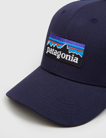 Patagonia P-6 Logo Trucker Hat - Navy Blue