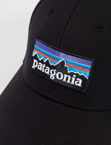 Patagonia P-6 Logo Stretch Fit Hat - Black