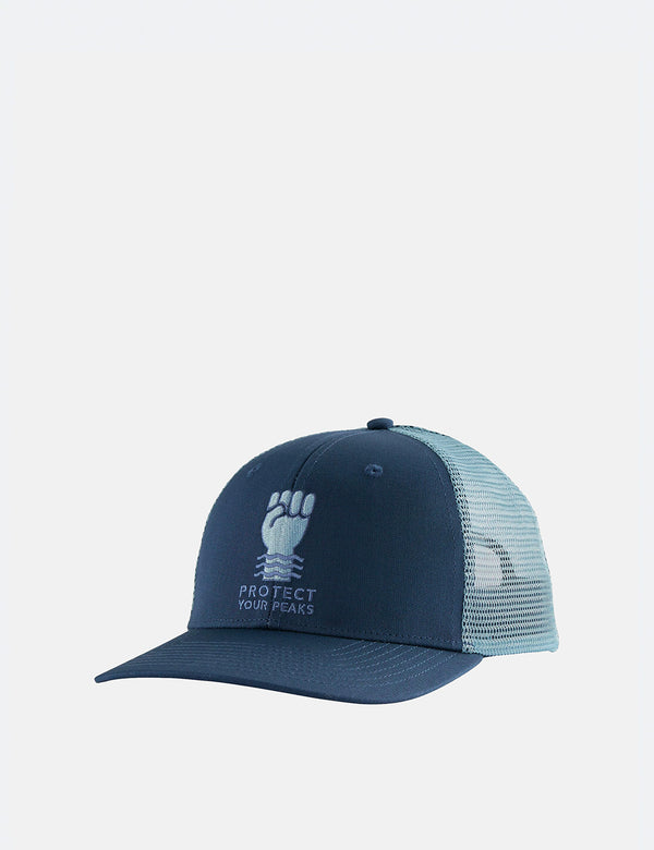 Casquette Trucker Patagonia Protect Your Peaks - Stone Blue