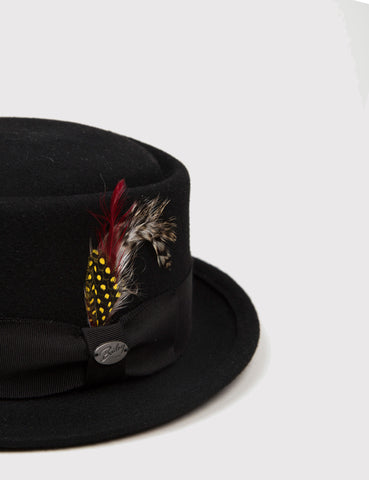 Bailey Arvid Pork Pie Hat - Black
