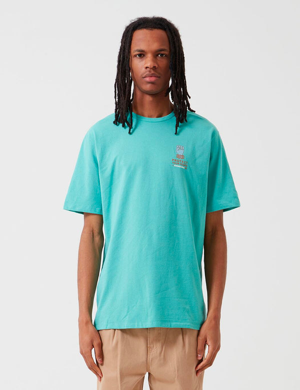 Patagonia Keep The Stoke Stoked Responsibili-Tee T-Shirt - Light Beryl Green
