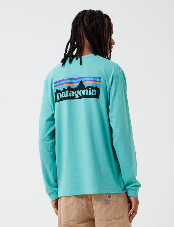 Patagonia P-6 Logo Responsibili-Tee Long Sleeve T-Shirt - Light Beryl Green