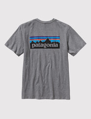 Patagonia P-6 Logo T-Shirt - Gravel Heather