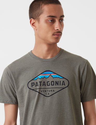 Patagonia Fitz Roy Crest T-Shirt - Industrial Green
