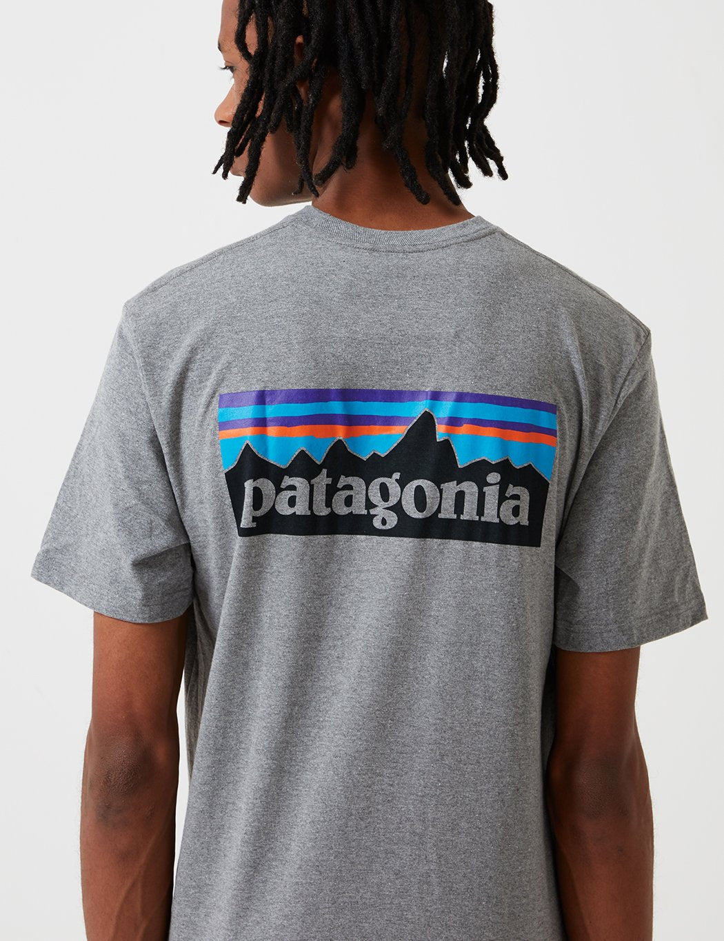 Patagonia P-6 Logo Pocket Responsibili-Tee T-Shirt - Gravel Heather Grey