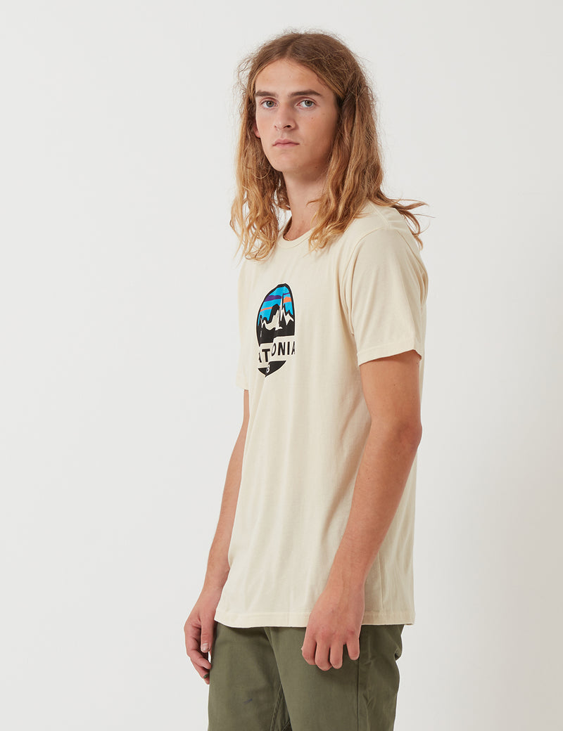 Patagonia Fitz Roy Scope Organic T-­Shirt - Oyster White