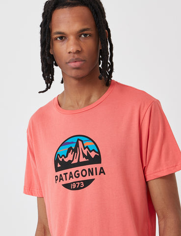 Patagonia Fitz Roy Scope Organic T-­Shirt - Spiced Coral Red
