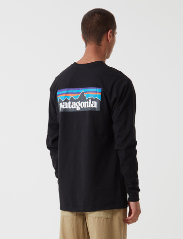 Patagonia P-6 Logo Responsibili-Tee Long Sleeved T-Shirt - Black
