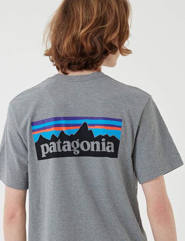 Patagonia P-6 Logo Responsibili-Tee T-Shirt - Gravel Heather Grey
