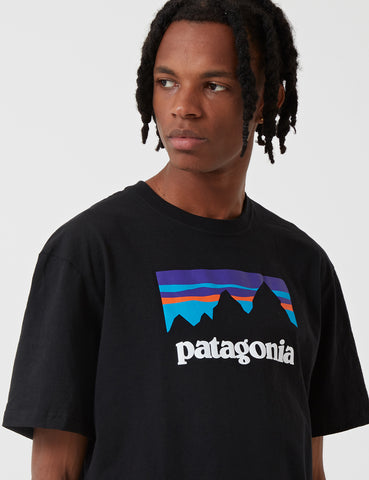 Patagonia Shop Sticker Responsibili-Tee T-Shirt - Black