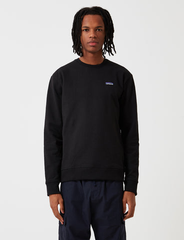 Patagonia P-6 Label Uprisal Crew Sweatshirt - Black