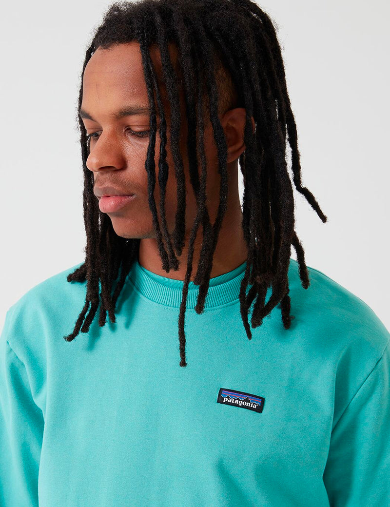 Patagonia P-6 Label Uprisal Crew Sweatshirt - Light Beryl Green