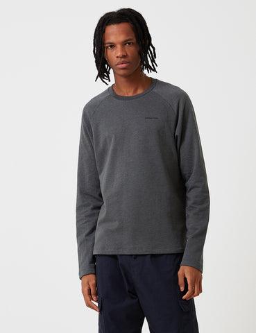 Patagonia P-6 Logo Crew Neck Sweatshirt - Forge Grey