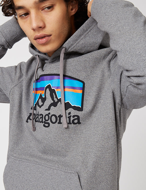 Sweat à Capuche Patagonia Fitz Roy Horizons Uprisal - Gravel Heather