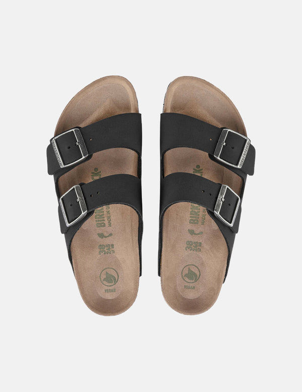 Birkenstock Arizona Vegan Birko-Flor Nubuck (Regular) - Black