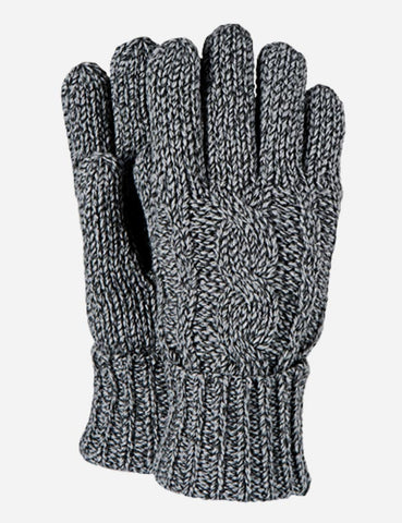 Barts Twister Gloves - Heather Grey