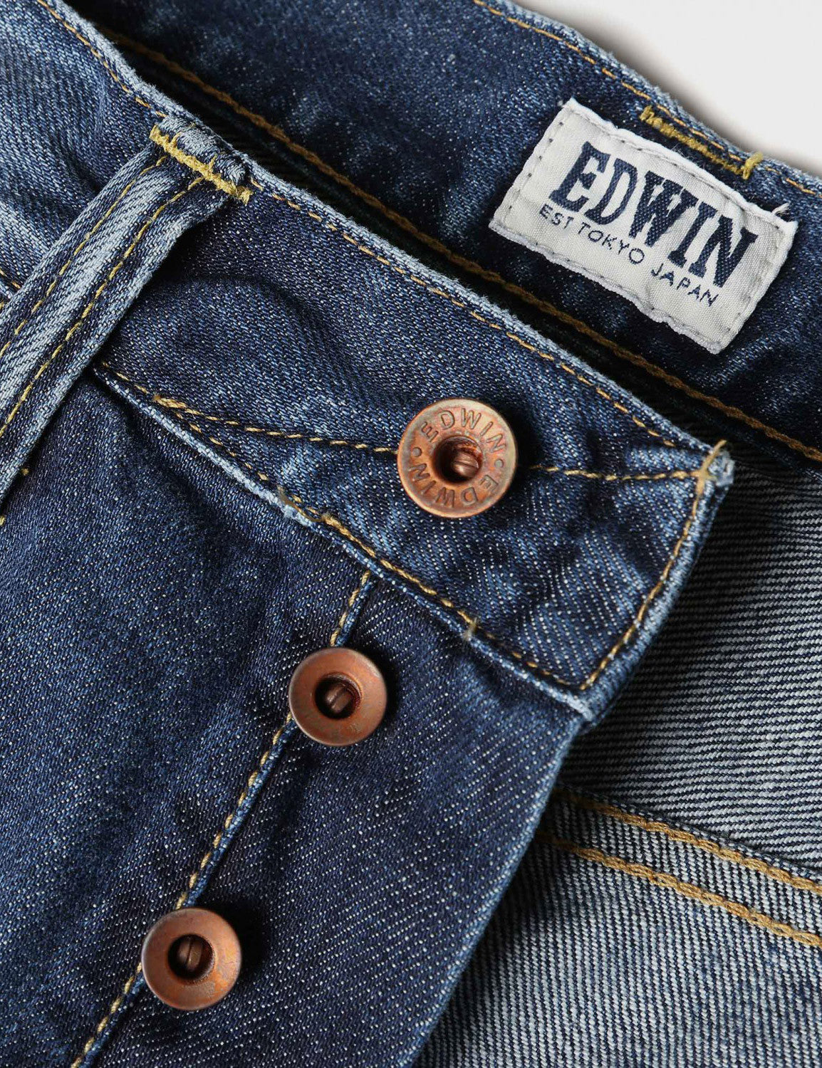 Edwin ED-55 Relax Tapered 12oz - Blue Break Used