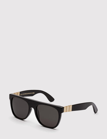 Super Flat Top Gianni Sunglasses - Black/Gold