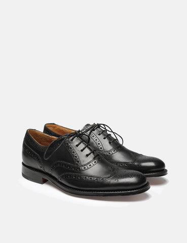 Womens Grenson Martha Brogues - Black