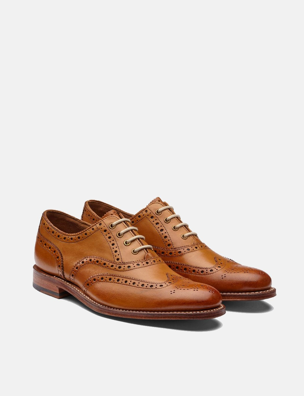 Womens Grenson Martha Brogues - Tan - Tan / 4
